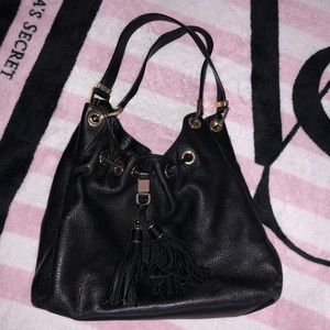 MK Black Leather Bag